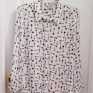 DB Dressbarn Button Down Polyester Blouse 2x